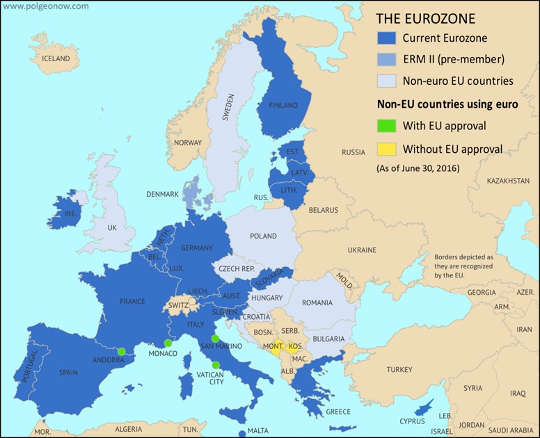 Czarnogóra jest w strefie euro.