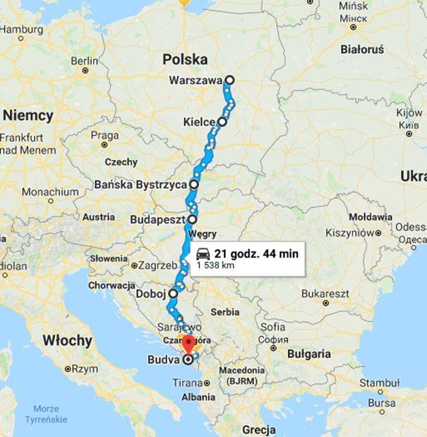 Czarnogora samochodem