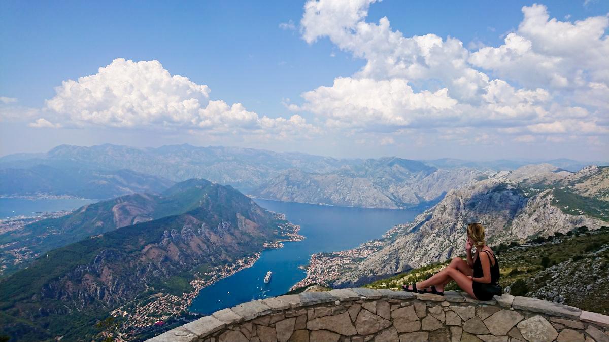 Punkt widokowy na Zatokę Kotorską.