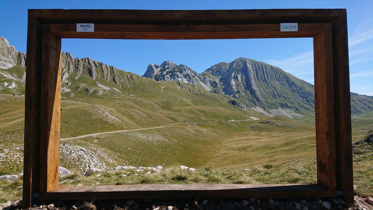 Widok na górę Prutas w Parku Narodowym Durmitor.