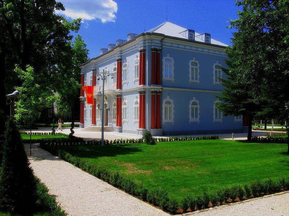 Pałac prezydencki w Cetynie.