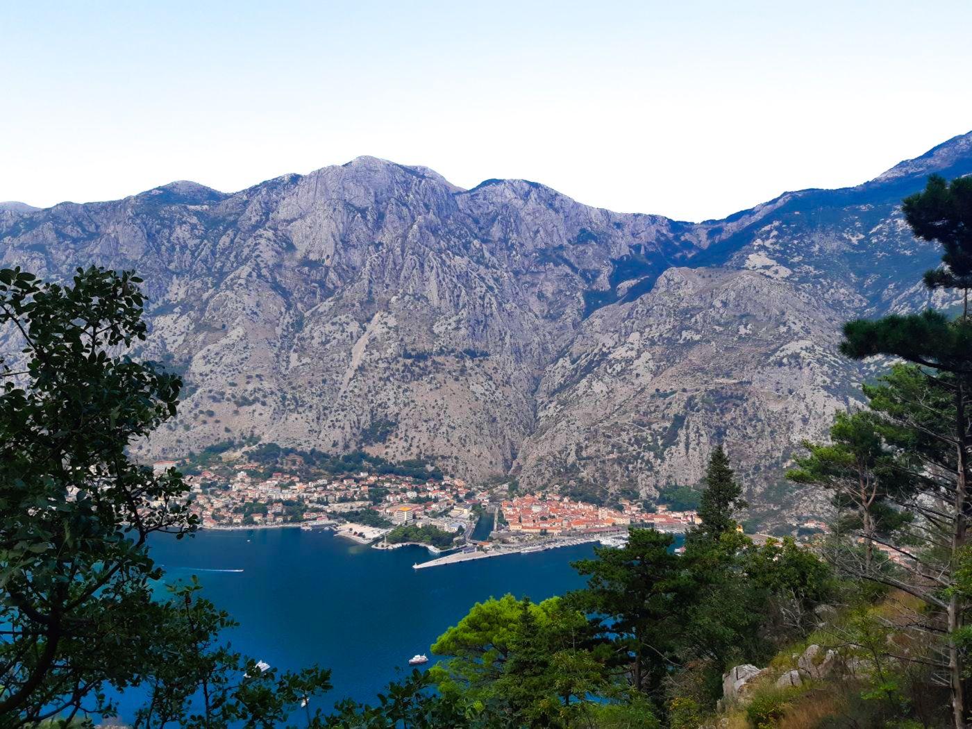 Widok na Kotor.