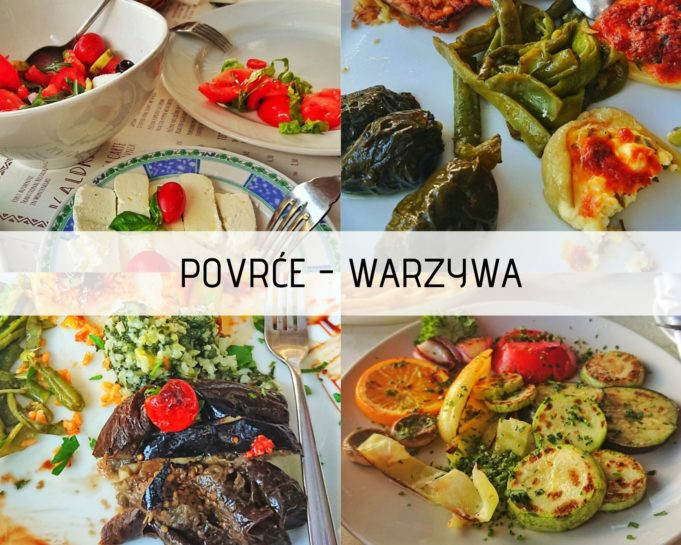 Warzywa i owoce są bardzo smaczne w Czarnogórze.