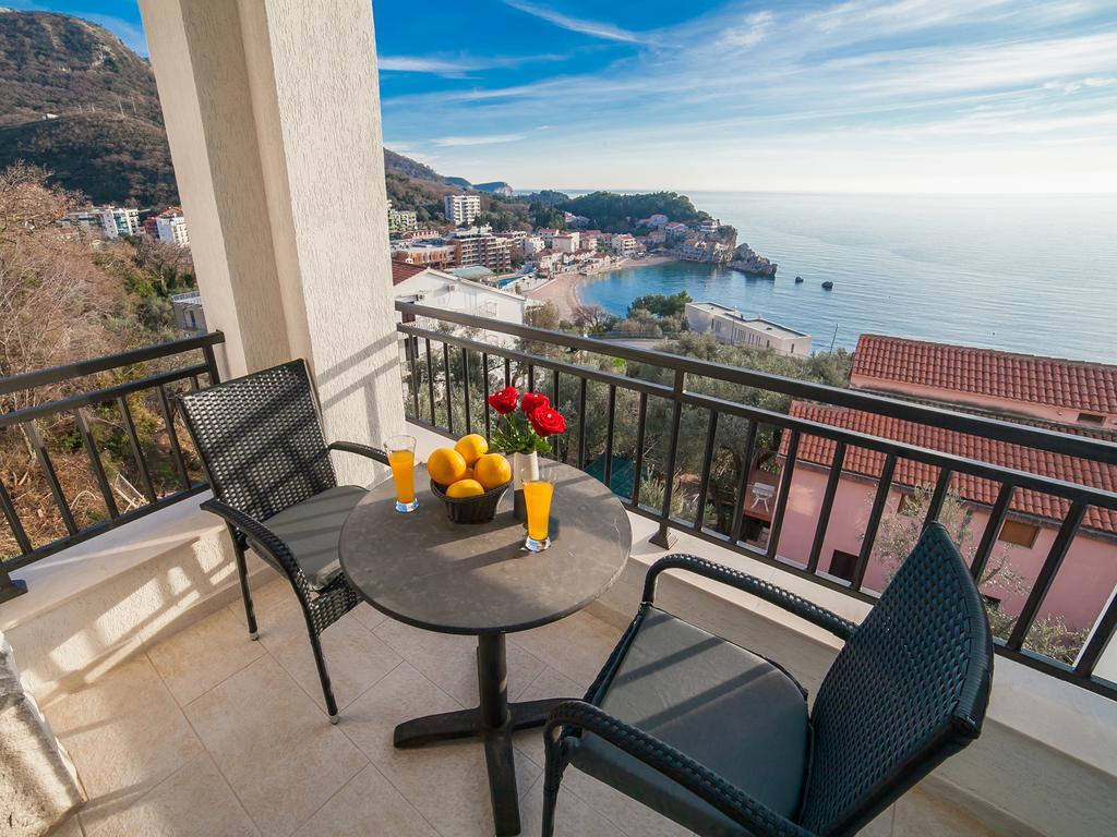 Widok z balkony w apartamencie Villa Mona 2.