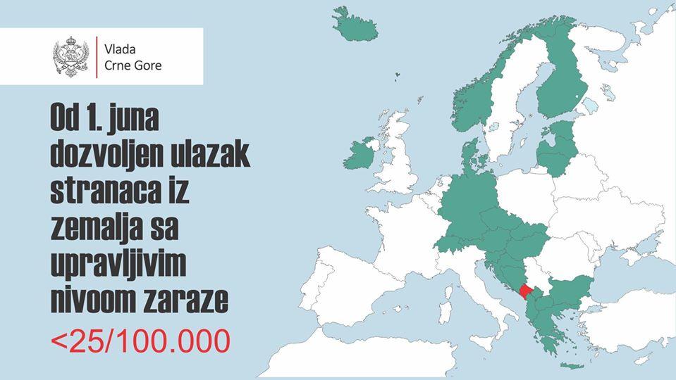 Czarnogóra otwiera granice.