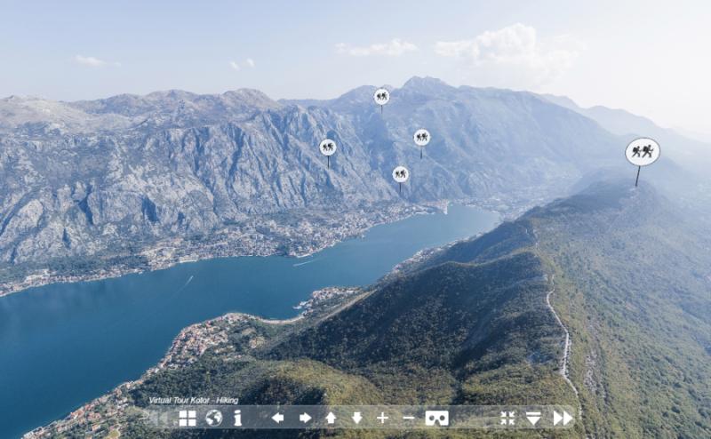 Zwiedzanie wirtualne Zatoki Kotorskiej