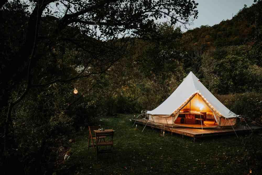 Idealny dla pary namiot Mint Bell.