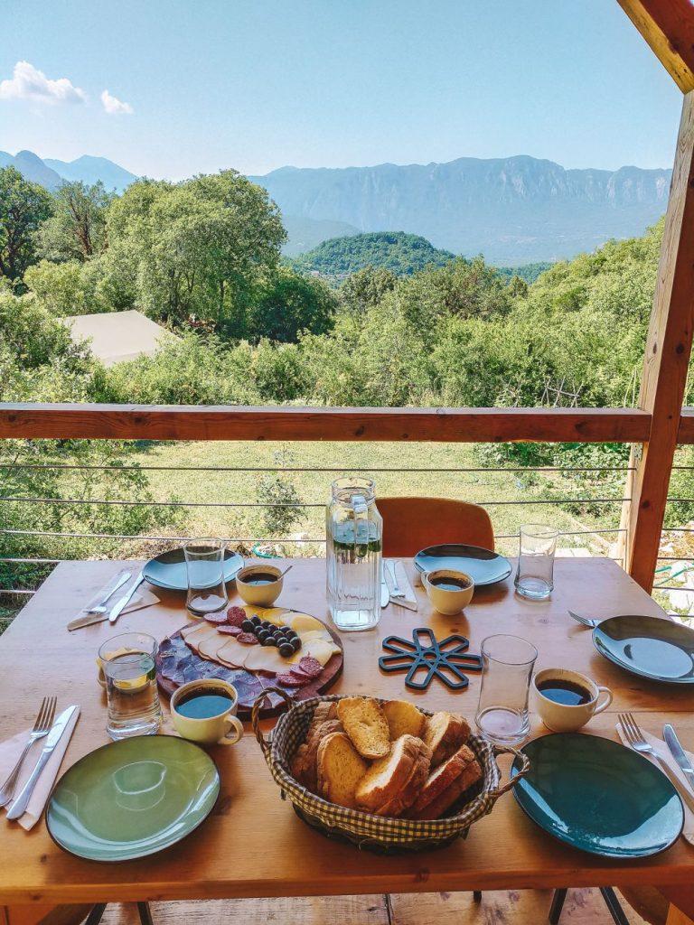 Śniadania z takim widokiem.