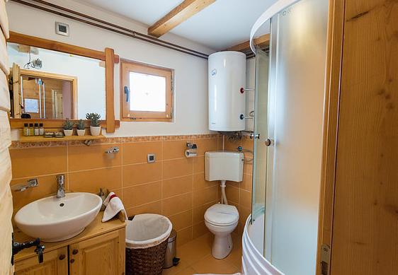 Łazienka w domku.